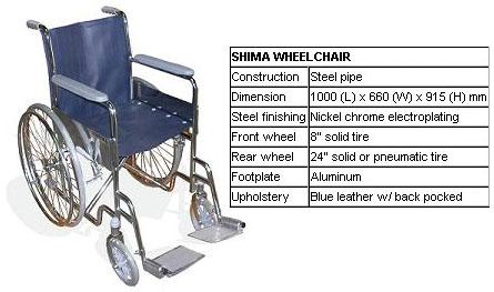 kursi roda standard rumah sakit shima